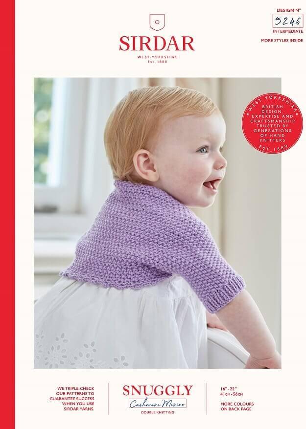 Sirdar Knitting Pattern 5246 Snuggly Cashmere Merino Baby Bolero Cardigan