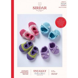 Sirdar Knitting Pattern 5249 Snuggly Cashmere Merino Baby Bootees Booties