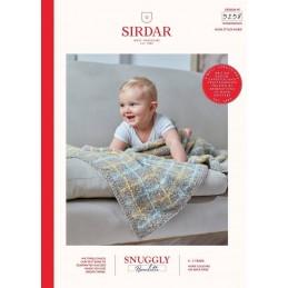 Sirdar Knitting Pattern 5258 Snuggly Bouclette Baby Blanket