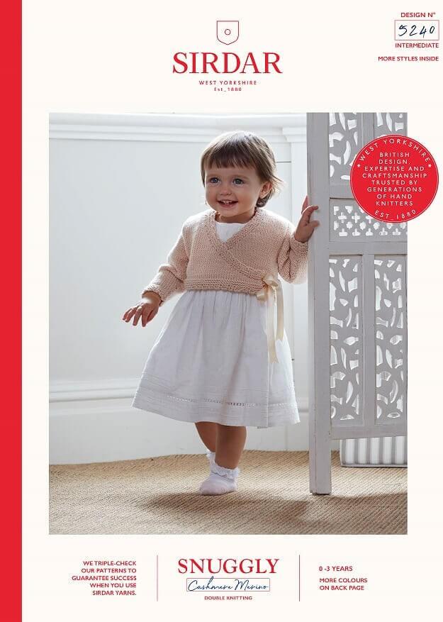 Sirdar Knitting Pattern 5240 Snuggly Cashmere Merino Baby Ballerina Jumper