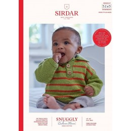 Sirdar Knitting Pattern 5245 Snuggly Cashmere Merino Baby Polo Sweater