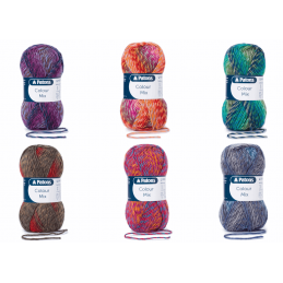 Patons Colour Mix Knitting Yarn Colourful Craft Wool 50g Ball