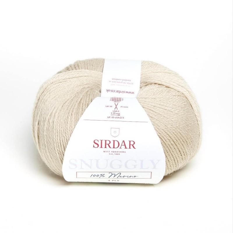 Sirdar Snuggly 100% Merino 4 Ply Baby Knitting Yarn Craft Wool 50g Ball Biscuit