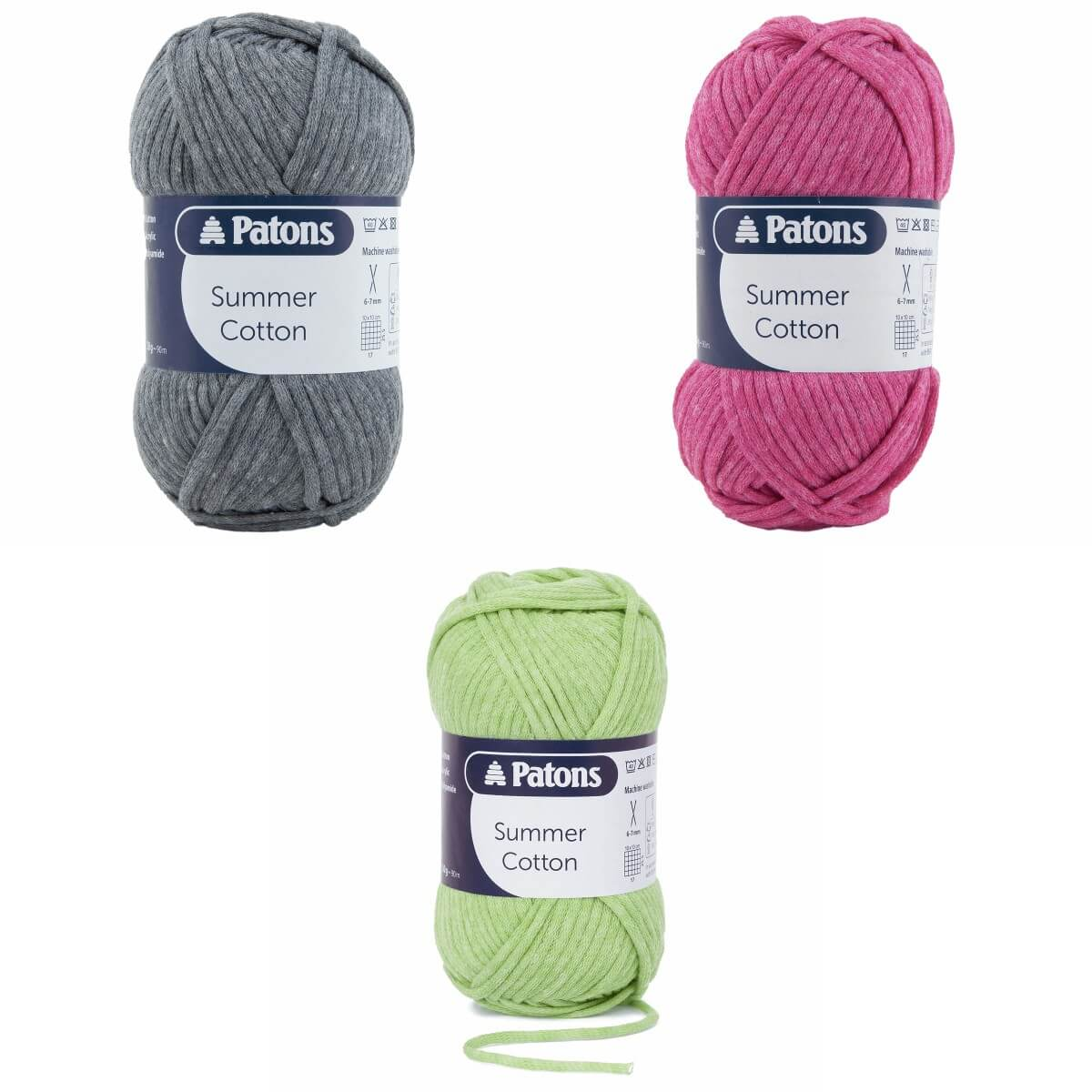 0071 Peridot Patons Summer Cotton Aran Yarn Knitting Crochet Easy Care 50g Ball