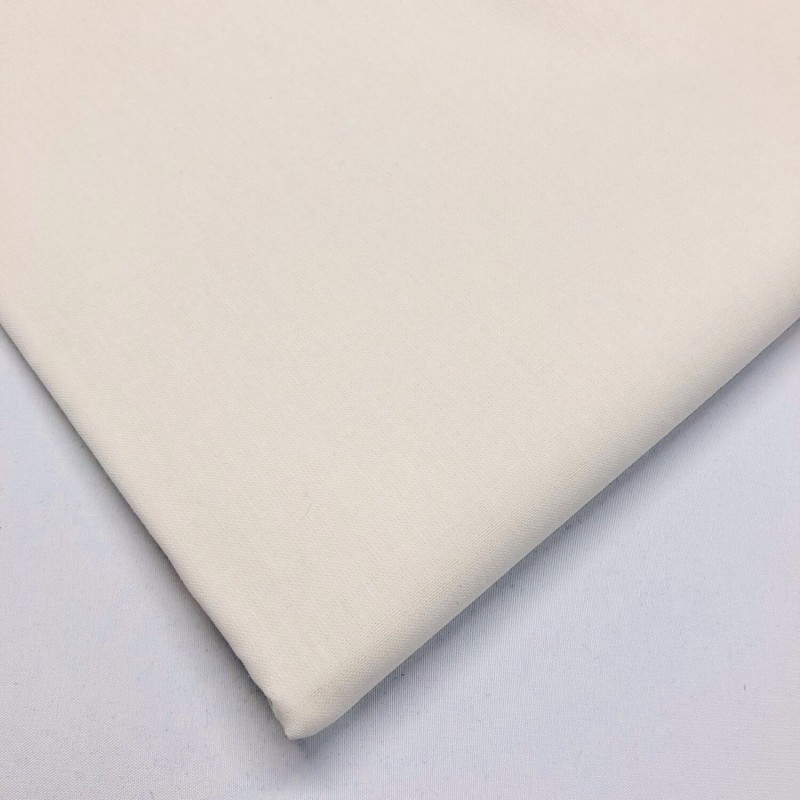 Lifestyle 100% Cotton Fabric Plain Coloured Solid 150cms Wide 135gsm Ivory