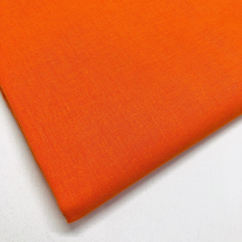 Lifestyle 100% Cotton Fabric Plain Coloured Solid 150cms Wide 135gsm Orange