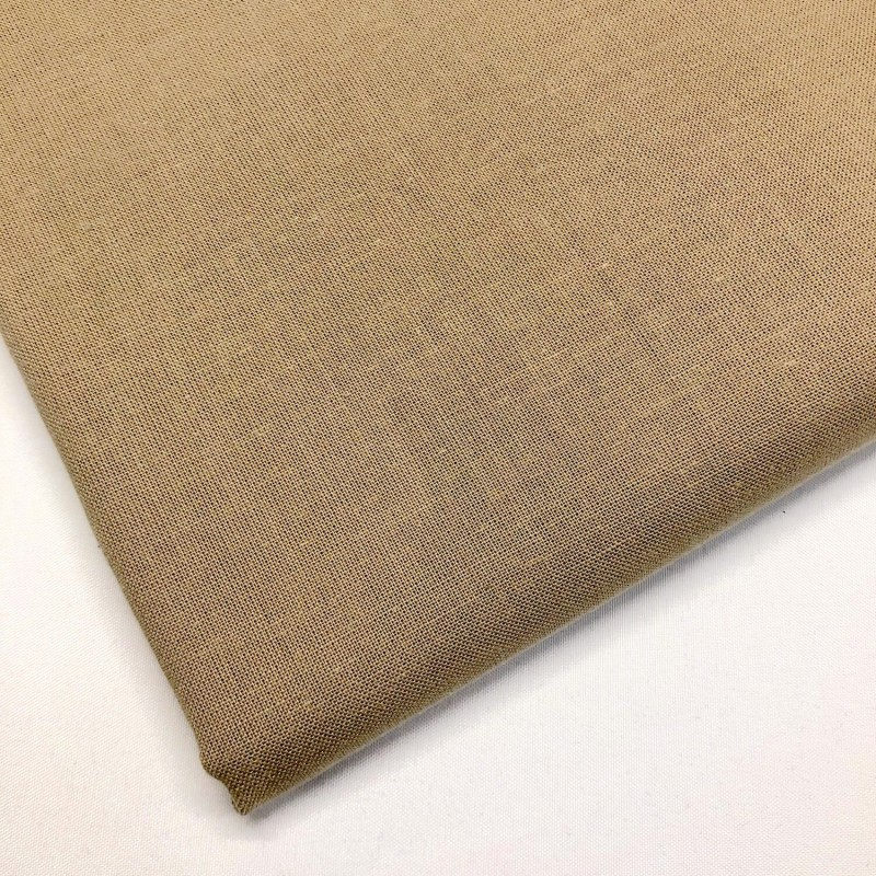 Lifestyle 100% Cotton Fabric Plain Coloured Solid 150cms Wide 135gsm Taupe
