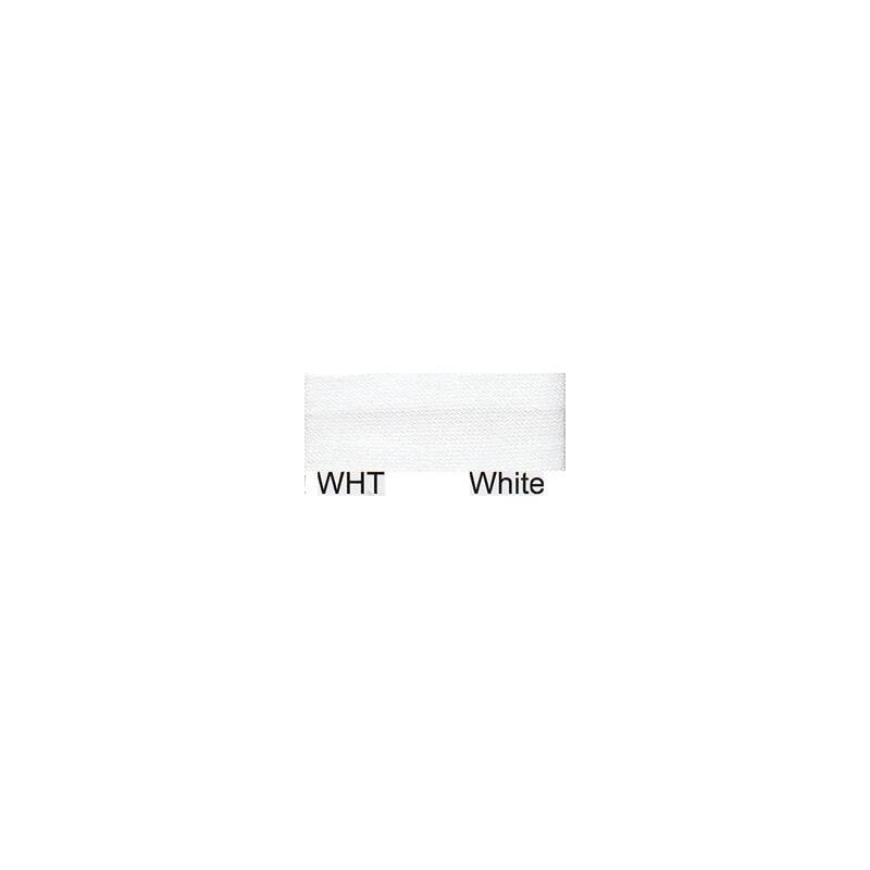 15mm Satin Bias Binding White