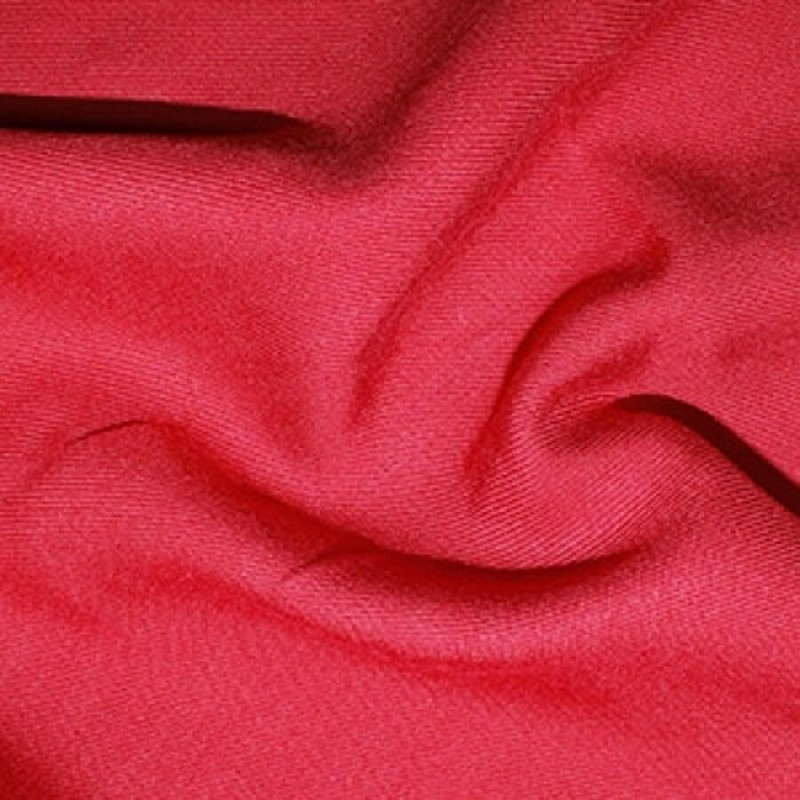 100% Viscose Twill Fabric Soft Silky Feel Dress Material 140cm Wide Red