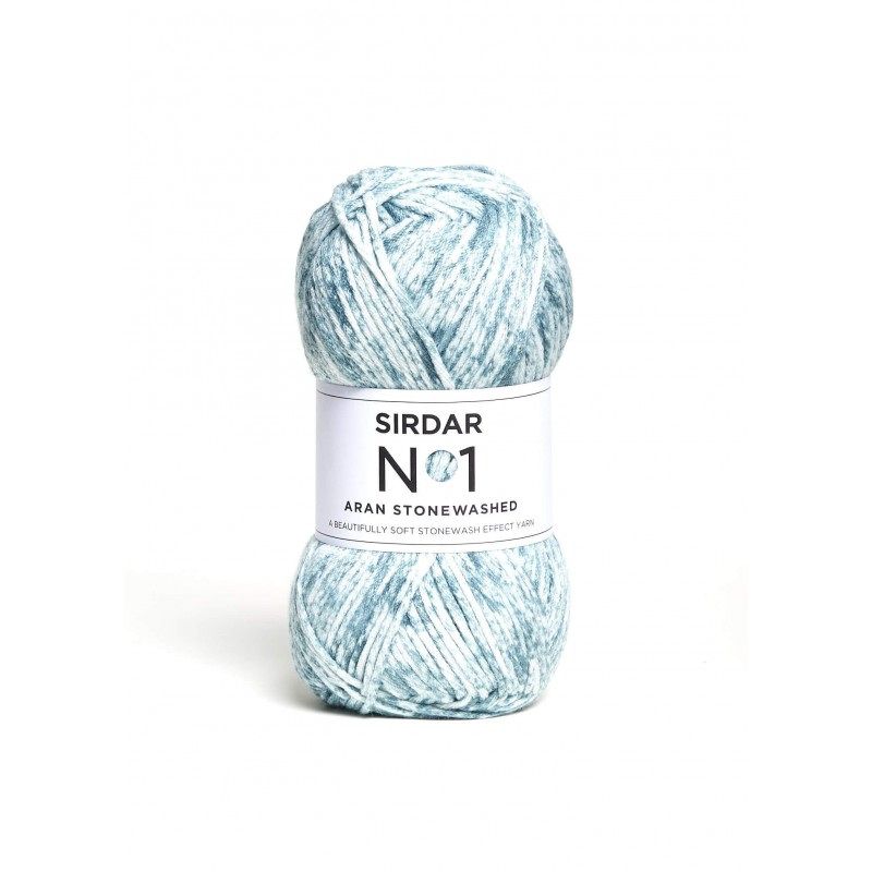 Sirdar No. 1 Aran Stonewashed Knitting Crochet Crafts Aran Weight 100g Ball Sea Wash