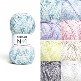 Sirdar No. 1 Aran Stonewashed Yarn Knitting Crochet Crafts Aran Weight 100g Ball