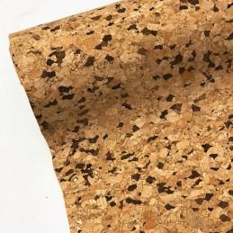 Natural Cork PU Leather Fabric Material Craft Decor Accessories Bags Dark Grain