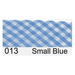 15mm Mini Gingham  Bias Binding Blue
