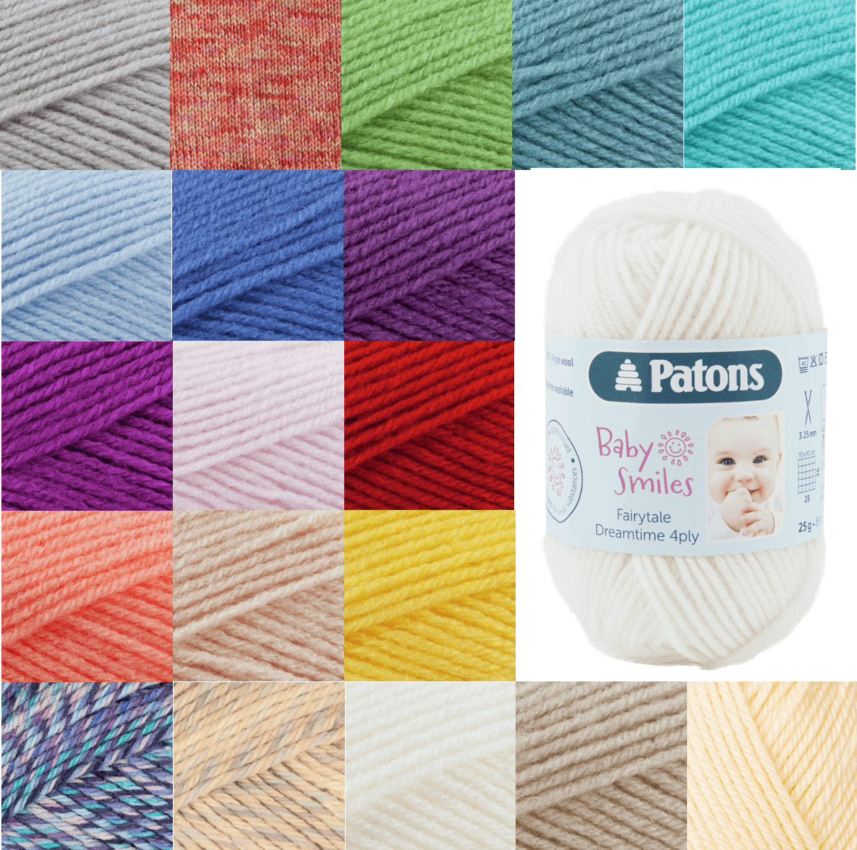 Patons Fairytale Dreamtime 100% Wool 4 Ply Knit Yarn Craft Wool 25g Ball 1005 Beige