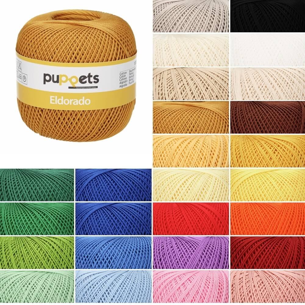 Puppets Eldorado No. 6 100% Cotton Crochet Thread Craft 50g Ball