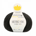 Regina Premium Merino & Yak Knitting Crochet Knit Yarn Craft Wool 100g Ball 7512 Anthracite Mix