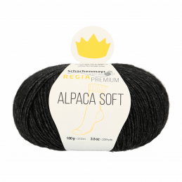 Regina Premium Soft Alpaca Knitting Crochet Knit Yarn Craft Wool 100g Ball 0099 Black Mix