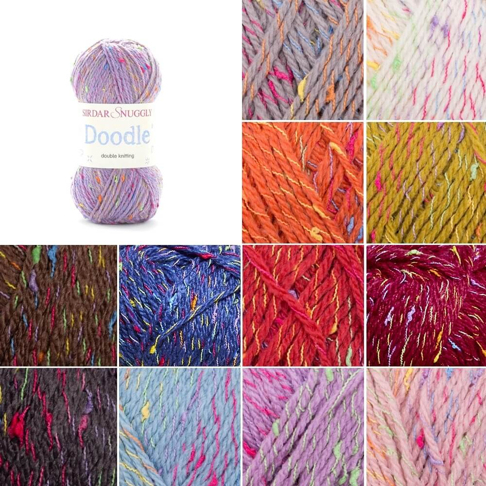 Sirdar Snuggly Doodle DK Double Knit Knitting Yarn 50g Ball