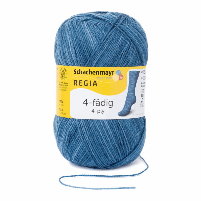 Regia Colour 4 PLY Knitting Crochet Knit Yarn Craft Wool Colourful 100g Ball 1923 Jeansblau