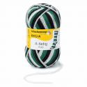 Regia Colour 4 PLY Knitting Crochet Knit Yarn Craft Wool Colourful 100g Ball 5390 Stadion Schwarz-Weiß-Grün