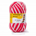 Regia Colour 4 PLY Knitting Crochet Knit Yarn Craft Wool Colourful 100g Ball 5392 Stadion Rot-Weiß