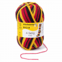 Regia Colour 4 PLY Knitting Crochet Knit Yarn Craft Wool Colourful 100g Ball 5397 Stadion Schwarz-Rot-Gold