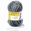 Regia Colour 4 PLY Knitting Crochet Knit Yarn Craft Wool Colourful 100g Ball 7390 Black Is Back Fog