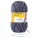 Regia Colour 4 PLY Knitting Crochet Knit Yarn Craft Wool Colourful 100g Ball 7709 Snowflake Schneestern