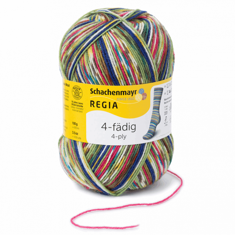 Regia Colour 4 PLY Knitting Crochet Knit Yarn Craft Wool Colourful 100g Ball 9386 Mix It! Tropical
