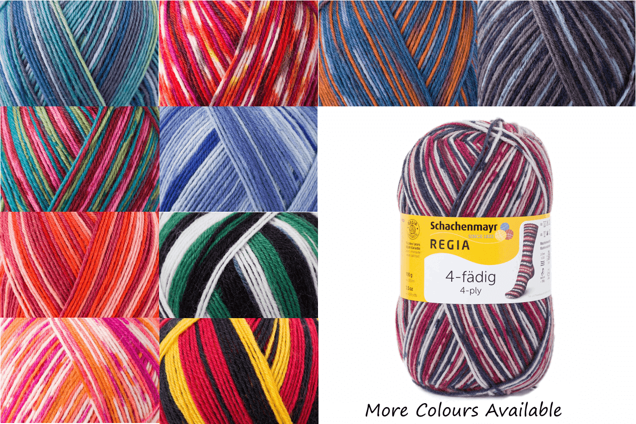 Regia Colour 4 PLY Knitting Crochet Knit Yarn Craft Wool Colourful 100g Ball 1923 Jeansblau