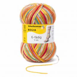 Regia Colour 6 PLY Knitting Crochet Knit Yarn Craft Wool 150g Ball 1125 Wintersorbet Square Circus