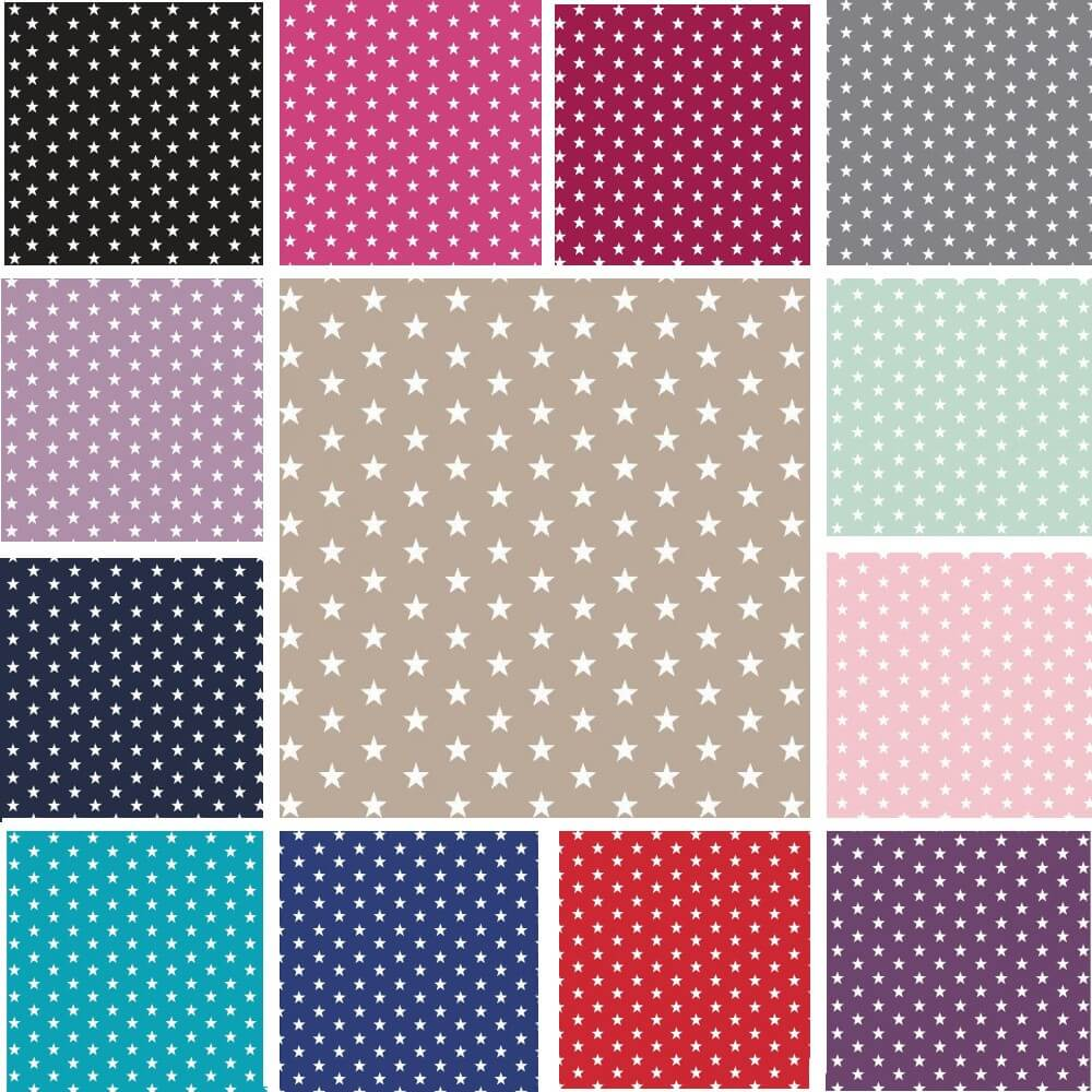 Pink Small 1cm Mini Stars 100% Cotton Fabric 145cm Wide Star