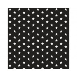 Black Small 1cm Mini Stars 100% Cotton Fabric 145cm Wide Star