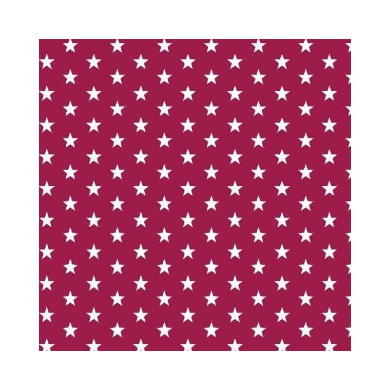 Cherry Small 1cm Mini Stars 100% Cotton Fabric 145cm Wide Star