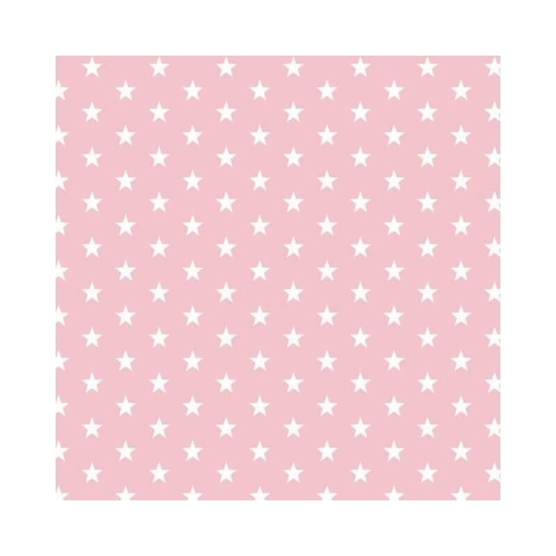 Pink Small 1cm Mini Stars 100% Cotton Fabric 145cm Wide Star