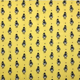 Yellow 100% Cotton Fabric Lifestyle Delilah Duck Animal Bird River 140cm Wide