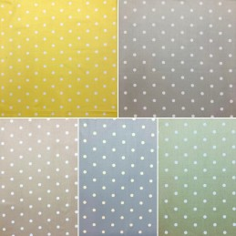 100% Cotton Fabric Lifestyle Dotty Polka Dots Spots Spotty 140cm Wide