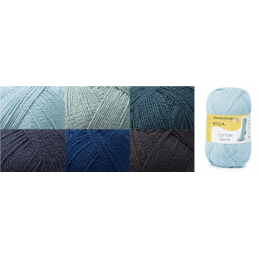 Regia Cotton Denim 4 PLY Knitting Crochet Knit Yarn Craft Wool 100g Ball