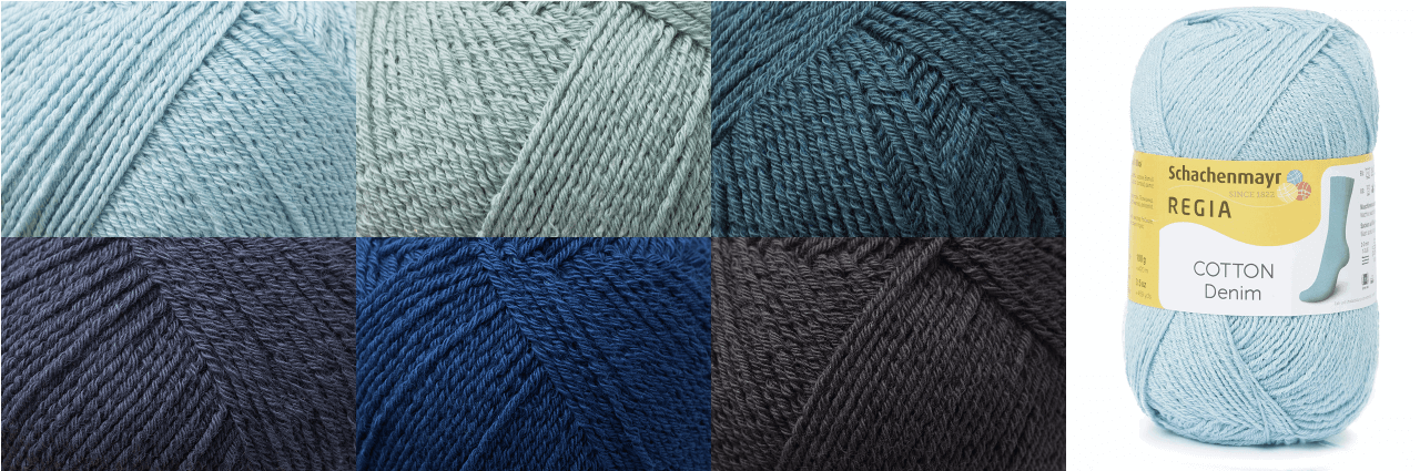 Regia Cotton Denim 4 PLY Knitting Crochet Knit Yarn Craft Wool 100g Ball 2864 Bleached Blue