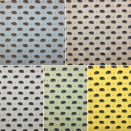 100% Cotton Fabric Lifestyle Harriet Hedgehog Animals Wildlife 140cm Wide