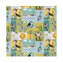 Patchwork Zoo Animals 100% Digital Cotton Fabric Little Johnny Range 145cm Wide