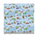 Road Map 100% Digital Cotton Fabric Little Johnny Range 145cm Wide