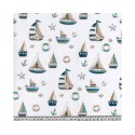 Sailing Boats Anchors 100% Digital Cotton Fabric Little Johnny Range 145cm Wide