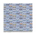 Hippie Camper Vans 100% Digital Cotton Fabric Little Johnny Range 145cm Wide