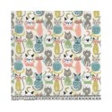 Cats 100% Digital Cotton Fabric Little Johnny Range 145cm Wide