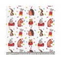 Animals 100% Digital Cotton Fabric Little Johnny Range 145cm Wide