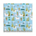 Cactus Lama Sky 100% Digital Cotton Fabric Little Johnny Range 145cm Wide