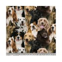 Dog Breeds 100% Digital Cotton Fabric Little Johnny Range 145cm Wide