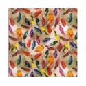 Feathers 100% Digital Cotton Fabric Little Johnny Range 145cm Wide