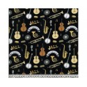 Jazz Navy 100% Digital Cotton Fabric Little Johnny Range 145cm Wide